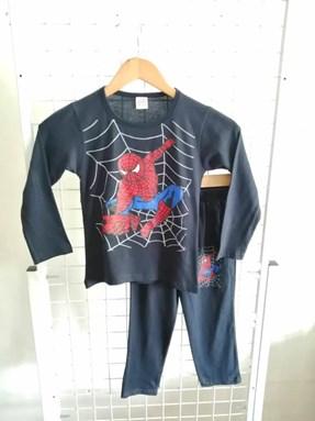 Pyjamas PLAIN SPIDERMAN ACTION Black - Long Sleeve (Big Size) 9y-14y
