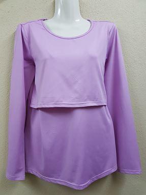 Long Sleeve Nursing Inner (Soft Purple)