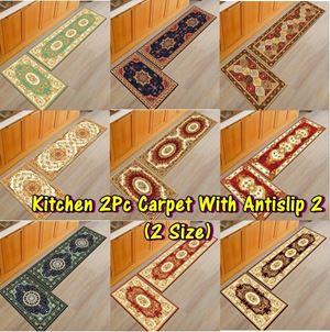 Kitchen 2Pc Carpet With Antislip 2 (2 Size)