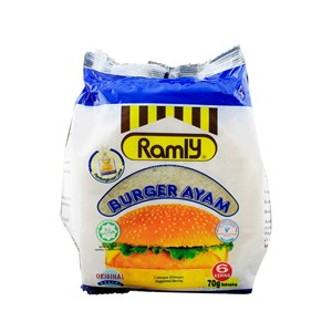 Ramly Chicken Burger 6 x 70g (420g)