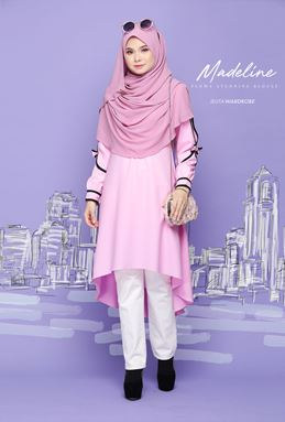 03 [PRE ORDER] MADELINE FLOWY BLOUSE (GLITTER PINK)