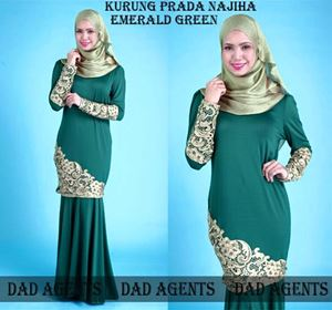 Kurung Prada Najiha Emerald Green