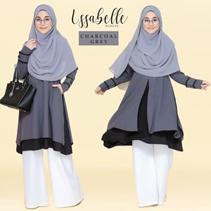 BLOUSE ISSABELLE - CHARCOAL GREY