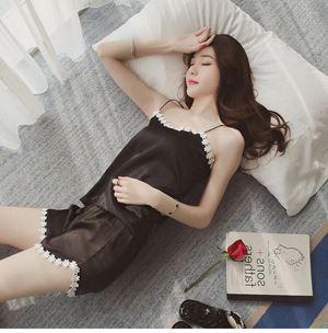 BB203 Female Sleeveless Pajamas Set ( BLACK ) ETA EARLY MAY