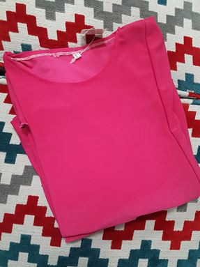 Kids Kurung Arrini (Hot Pink)