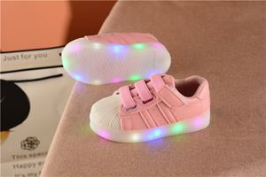 AD KASUAL ALL PINK LIGHT UP KIDS SHOES