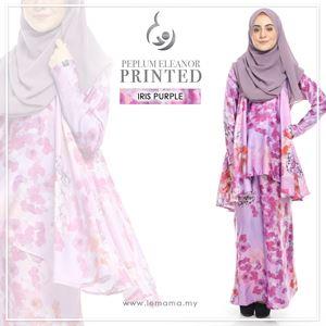 Peplum Eleanor Printed : Iris Purple