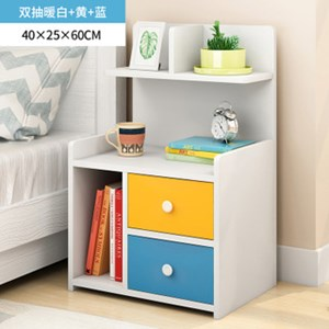Modern Style Bedside Table With Shelf Night Stand Books Sundries Cabinet Bedroom Furniture size;40x25x60cm