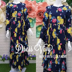 READY STOCK ! Dress Vivy D9247#