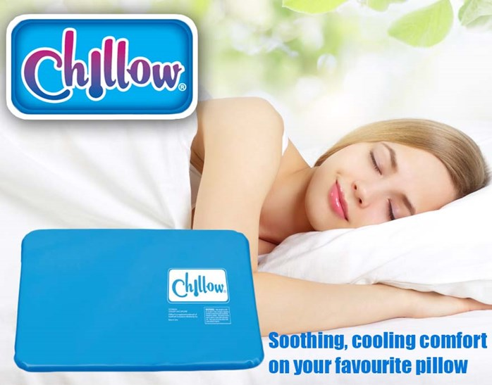 Chillow pillow cooling pad perfect sleeping temperature for Cool pillow for hot flashes