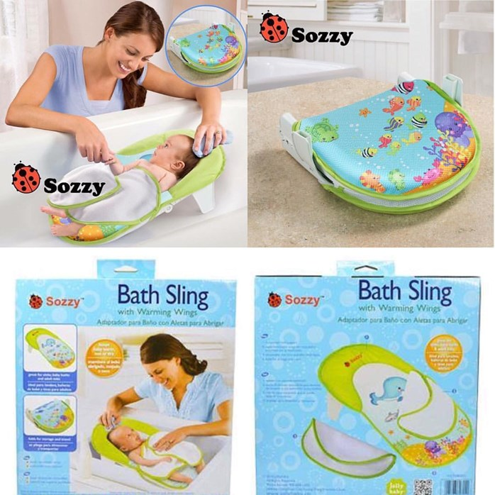 Sozzy Infant Bath Sling with Warming Wings Folding Bath tub ...
