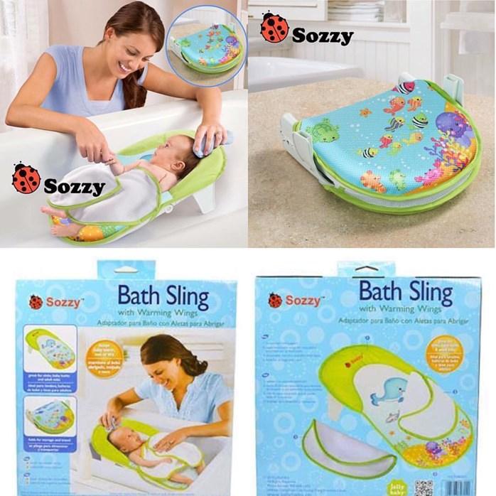 Sozzy Infant Bath Sling with Warming Wings Folding Bath tub ...